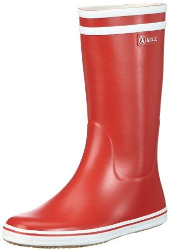 Aigle Malouine BT, Botas de Agua para Mujer, Rojo Rouge/Blanc, 37 EU