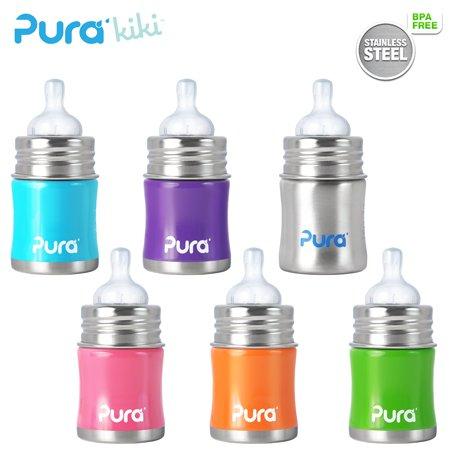 Pura Kiki Trinkflasche - 150ml - Weithalssauger (ALTES DESIGN) Pura Farbe Lila