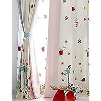 Wohnzimmer Schlafzimmer Esszimmer Arbeitszimmer Jugendzimmer Babyzimmer  1er Pack Mit Ösen Vorhänge Gardinen Schal Bestickt Stickerei