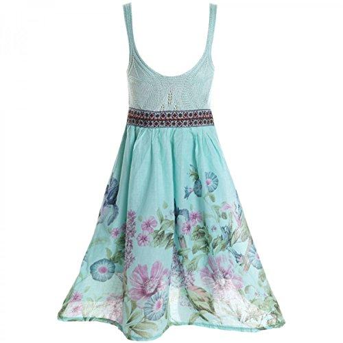 BEZLIT Mädchen Kinder Spitze Kleid Peticoat Fest Kleider Sommerkleid Kostüm 20423 Grün Größe 140 (Grüne Kleider Für Mädchen Größe 10)