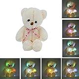 Ballylelly 50CM Bunte Glow LED Licht Plüsch Bär Puppe Dekokissen Spielzeug Freunde Geschenk Weltweiter