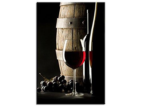 Tableau toile déco tonneau et verre vin rouge - TOP VENTE-1A-10060HX2E-MC