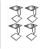 طاولة جانبية - أسود 4 قطع الحزم