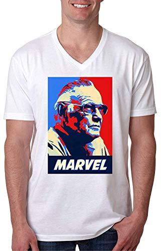 Lustiges T-Shirt Der amerikanische Comic-Veteran der Männer Stan Lee Fashion Graphic V-Neck T-Shirt -