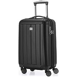HAUPTSTADTKOFFER - Kotti - Bagage à main cabine Valise Trolley 4 roues- TSA- 56 cm- 37 litres- Noir
