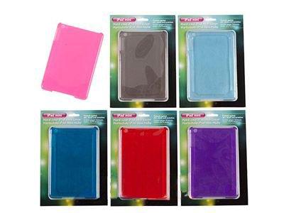 GFK ITALIA Étui Rigide pour iPad Mini en Plastique coloré Transparent, avec Trou pour Appareil Photo et Touches latérales