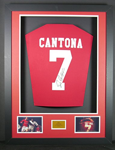 Eric Cantona Signed Manchester United Shirt 3D Framed Display with COA