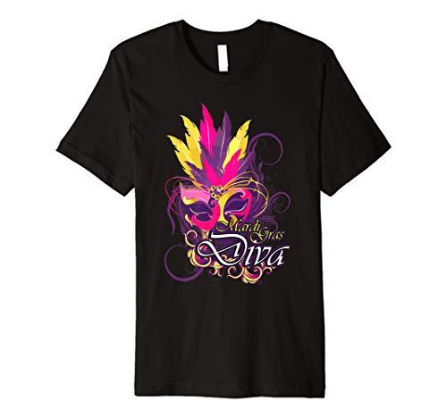 Carnival Diva Shirt Damen Feder Maske Rose Lila