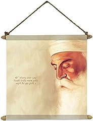 TheYaYaCafe Guru Nanak Dev Ji Photo Painting Scroll Poster Sikh Gifts Ek Onkar - 24X32 Inches