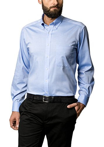 ETERNA uomini Comfort fit fine Oxford long sleeve shirt, light blue 19 1/2 Normal (25 1/2 inch)