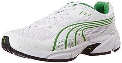 Puma Men's Pluto DP White-Macaw Green Running Shoes - 10UK/India (44.5EU)