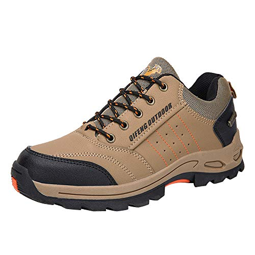 Zapatillas de Senderismo para Hombre,Hombres al Aire Libre Trekking Antideslizante Turismo Caza Zapatillas de montaña Zapatillas de Senderismo