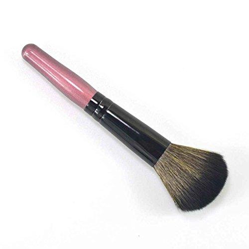 Babysbreath Berufsverfassungs-Mischungs-Bürsten-Make-up erröten Pulver-Bürste mit Holzhalter Rosa