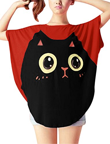 allegra-k-women-cat-t-shirt-dolman-sleeve-loose-summer-tops-red-l