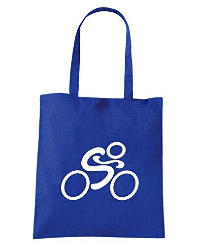 T-Shirtshock - Borsa Shopping OLDENG00797 cycling dark Blu Royal