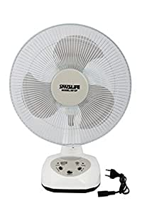 SPACELiFE 12 Inch Rechargeable Table Fan (Colour May very)