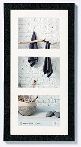 walther design HO352B Home Holzrahmen, 3X 15x20 cm, schwarz