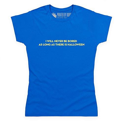 Never Bored T-Shirt, Damen Royalblau