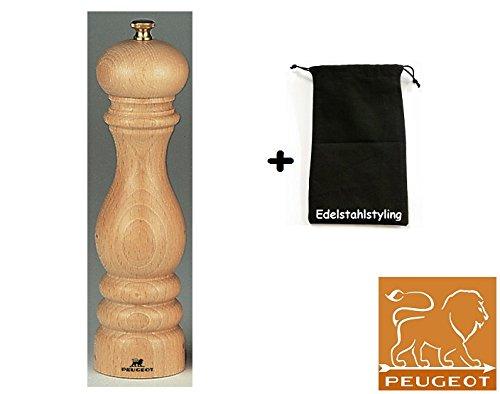 Peugeot Paris moulin à poivre Nature 22 cm + pochette en tissu