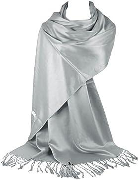 GFM Liso muy suave suave Pashmina Estilo Wrap bufanda (L9)