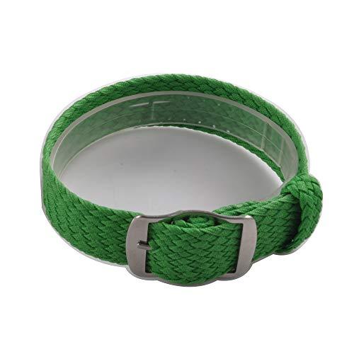Uhrenarmband NATO-Strap 20mm NATO-Armband aus robustem Ballistic Nylon in Farbe grün Uhr Armband Zul