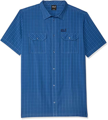 Jack Wolfskin Herren Thompson Shirt Hemd, Ocean Wave Checks, XXL