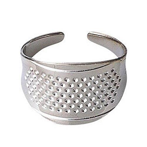 6ea26cd92d 2pcs Anillo de plata Protector de dedos de dedal de coser domésticas DIY  herramientas Quilting Craft