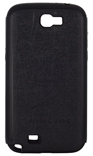 iCandy Leather Finish Hybrid Hard PC + Soft Rubber Back Cover for Samsung Galaxy Note 2 N7100 - BLACK  available at amazon for Rs.119