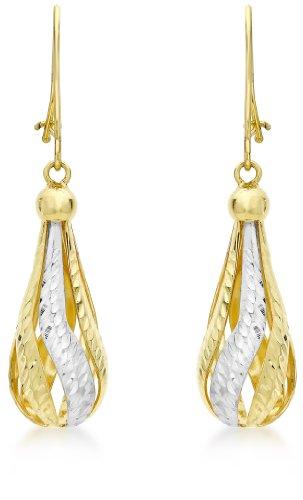 Carissima Gold Pendientes de mujer con oro bicolor de 9 K (375/1000), sin gema