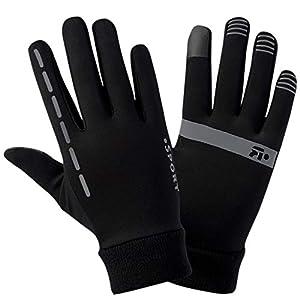 Stynice Touchscreen Handschuhe Herren Motorradhandschuhe Laufhandschuhe Damen Winter Sport Training Fahrradhandschuhe Schwarz