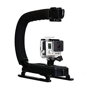 Opteka X-GRIP Professional Action Stabilizing Handle Specifically Made for GoPro HD Hero6, Hero5, Hero4, Hero3, Hero and Session with Accessory Shoe for Flash, Mic, or Video Light (Black)