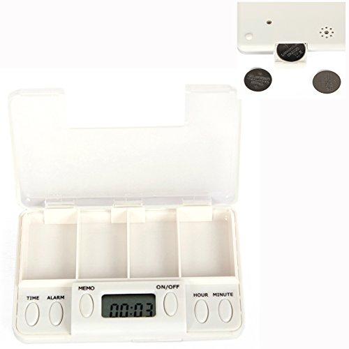 Cisixin dispenser pillole con timer, set di promemoria automatico per medicine