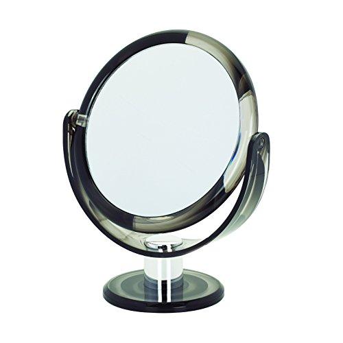 Danielle Creations Vanity - Specchio rotondo girevole, 17 cm, colore grigio