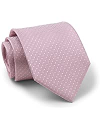 Savile Row Men's Dusty Pink Textured Spotted Silk Tie
