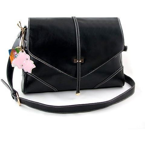 Yippydada Foxy - Bolso cambiador (piel auténtica), color negro
