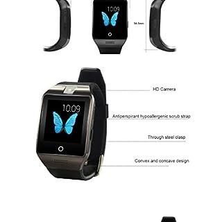 Apro Smart Watch 1,54 Zoll 240 * 240px Touchscreen Armbanduhr mit Kamera-Unterstützung NFC-SIM-Karte Bluetooth Smart-Uhren für Andorid Smartphones(Schwarz)