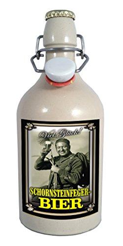 Schornsteinfeger - 0,5 Liter Tonflasche mit Bügelverschluss -