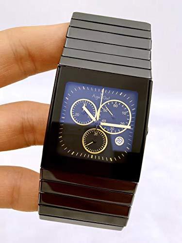 KLMADSB Armbanduhr Herren Uhren Mens Top-Marke Keramik Quarzuhr Frauen Square XL Kleid Armbanduhren Liebhaber High-Tech-Uhr Keramik hoher Qualität AAA 4