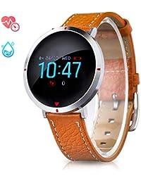 GOKOO Reloj Inteligente Mujer Smartwatch Fashion Deporte Fitness Tracker Pulseras de Actividad Reloj de Fitness Impermeable IP67 con Pulsómetros Podómetro Monitor de Sueño para iOS Android Phone