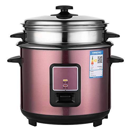 WSJTT Elektrischer Reiskocher mit automatischer Warmhaltung for Suppen Edelstahlfolie, unbeschichtet, Eintöpfe, Getreide, heißes Getreide, automatische Isolierung, 3 l mit Dampfgarer [Energieklasse A]