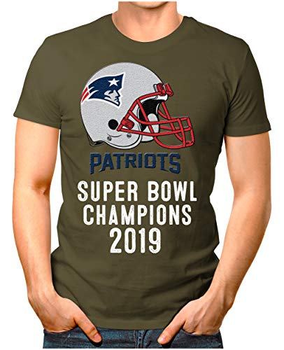 OM3® - Patriots-Champ - T-Shirt | Herren | American Football Shirt | L, Oliv