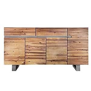 massives baumstamm sideboard genesis 170 cm akazie massivholz baumkante mit kufengestell. Black Bedroom Furniture Sets. Home Design Ideas