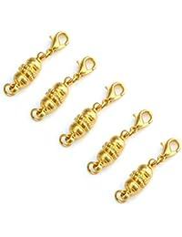 LEORX 5 langosta magnético cierres para collar pulsera (oro)
