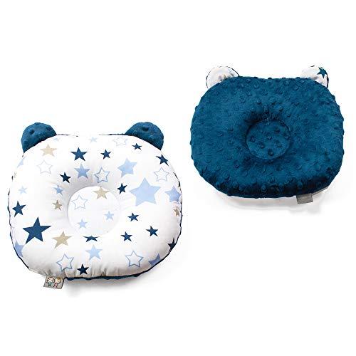 Sevira Kids - Coussin de maintien anti tête plate - oreiller morphologique bébé - Milky Way