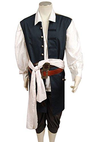 Imagen de piratas del caribe jack sparrow chaqueta chaleco cinturón hombre pantalones disfraz de adulto talla marrón marrón l alternativa