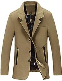 Blazer da Uomo Blazer Casual Giacca Casual Giacca Abbigliamento Giacca  Casual Elegante Bavero A Maniche Lunghe f55299222b7