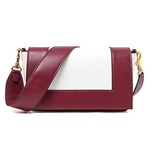 Mefly Single Shoulder Bag Lady Fashion Farbe Wine red with white