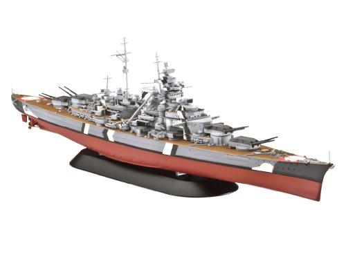 Revell Modellbausatz Schiff 1:700 - Battleship Bismarck im Maßstab 1:700, Level 4, originalgetreue Nachbildung mit vielen Details, 05098