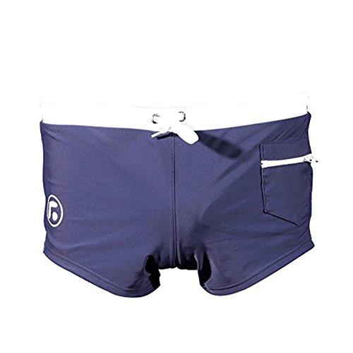 URAQT Homme Slip de Bain, Maillot De Bain,Short de bain, avec avant Tie pour Plage/Sport/Natation/Plongée