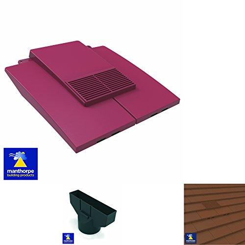 Antik Rot Uni in Line Dachziegel Vent & Rohr Rohr Adapter/für Beton und Ton Fliesen